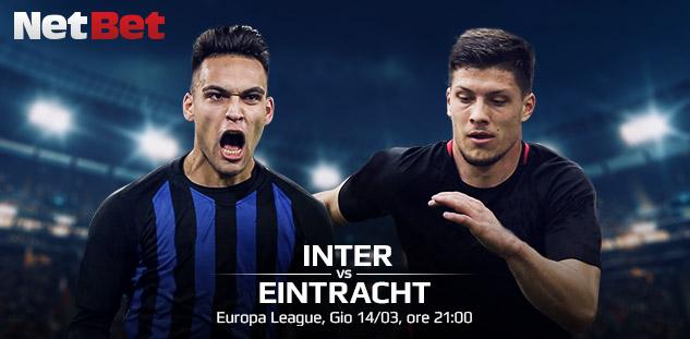 Europa League: Inter vs Eintracht Francoforte. Quote e Pre-partita