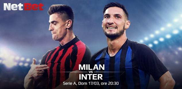 Serie A: Milan vs Inter. Quote e Pre-partita