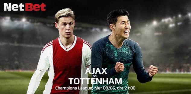 Champions League: Ajax vs Tottenham. Pronostici e Scommesse