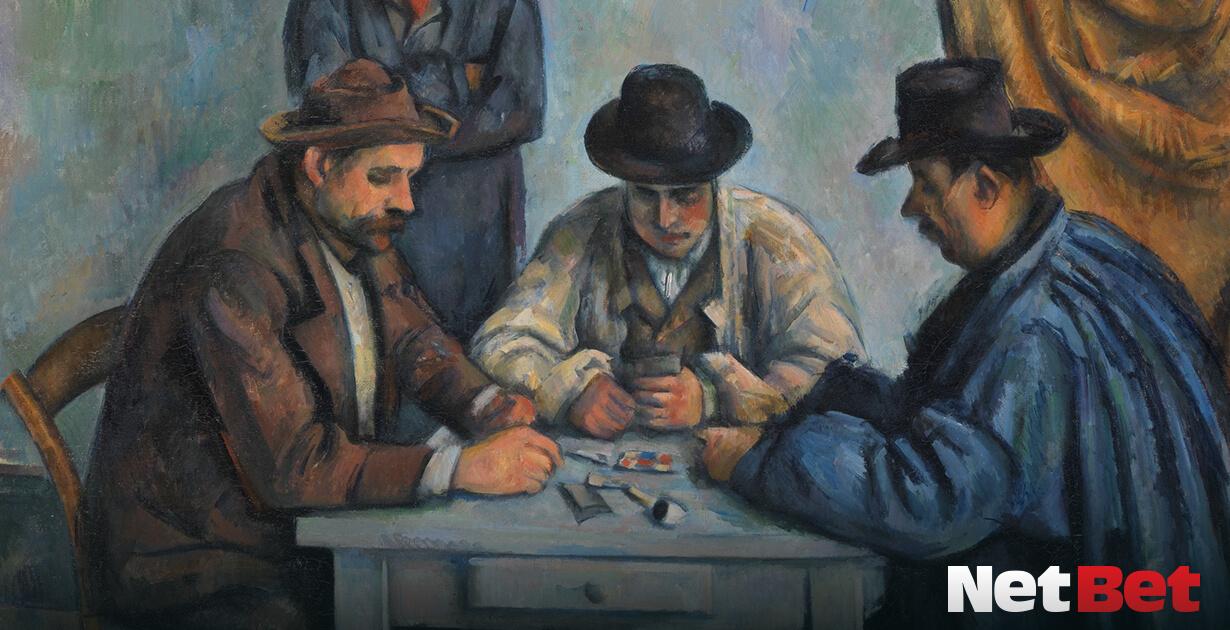giocatori carte dipinto